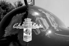 Klasyczny amerykanina Chrysler samochodu przodu szczegół fotografia stock
