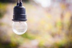 Klasyczny żarówki lampy wystrój obrazy stock