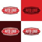 Klasyczny Auto logo - Wektorowa ilustracja fotografia royalty free
