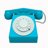 Klasyczny błękitny telefon Fotografia Stock