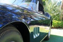 Klasyczny błękitny włoski sporta samochodu strony szczegół 2 Fotografia Royalty Free