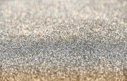 Klasyczny błyszczący złoto i srebro połyskujemy tło z selekcyjną ostrością zdjęcie stock
