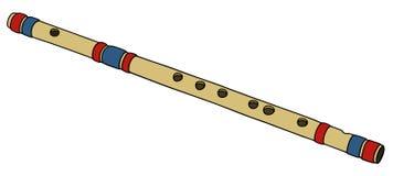 Klasyczny bambusa flet ilustracji