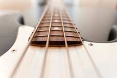 Klasyczny basowej gitary ciała zakończenie up Obraz Stock