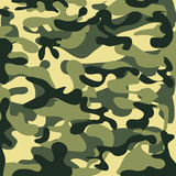 Klasyczny Bezszwowy Militarny kamuflażu wzór Fotografia Royalty Free