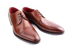 Klasyczny brąz obsługuje rzemiennych buty Fotografia Royalty Free