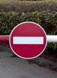 Klasyczny Brytyjski Drogowy znak - Żadny wejście obraz royalty free