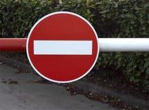 Klasyczny Brytyjski Drogowy znak - Żadny wejście obraz stock