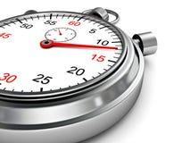Klasyczny chrom bawi się stopwatch tło Obrazy Royalty Free
