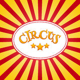 Klasyczny cyrkowy plakatowy projekta szablon Cyrkowy tło projekt ilustracji
