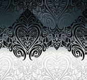 Klasyczny czarny & biały rocznika zaproszenia tło Zdjęcie Stock