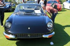 Klasyczny czarny Ferrari sportów samochodu przód Obraz Royalty Free