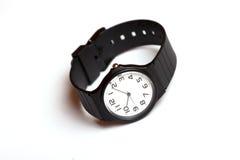 Klasyczny czarny i biały wristwatch zdjęcie royalty free