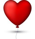 Klasyczny czerwień balonu serce ilustracji