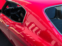 Klasyczny czerwony Chevy Chevelle zdjęcia stock