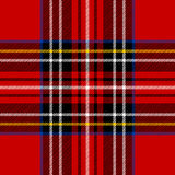 klasyczny czerwony tartan Obrazy Stock