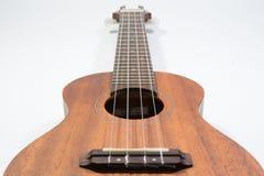 Klasyczny drewniany ukulele z cztery nylonów sznurkiem Zdjęcia Stock