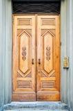 klasyczny drzwiowy drewniany Obraz Stock