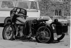 Klasyczny Duński motocykl Zdjęcia Royalty Free