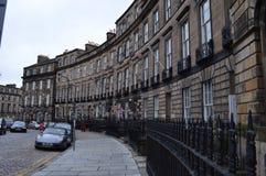 Klasyczny Edynburg taras w jesieni obraz stock