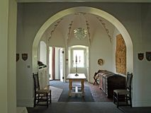 klasyczny elegancki entryway hall zdjęcie royalty free