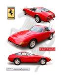 Klasyczny Ferrari 356 ` Daytona ` Coupe zdjęcie stock