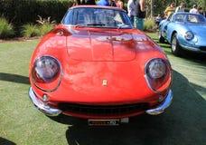 Klasyczny Ferrari sportów samochodu frontowy widok Obraz Stock