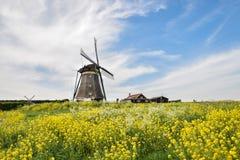 Klasyczny holenderski wiatraczek w ? zdjęcia stock