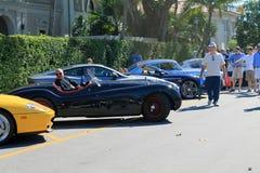Klasyczny jaguara xk w parking Zdjęcia Stock
