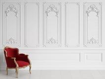 Klasyczny karło w klasycznym wnętrzu z kopii przestrzenią royalty ilustracja