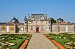 Klasyczny kasztel Malle w Gironde obraz stock