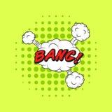 Klasyczny komiczek książek mowy majcheru uderzenie! Fotografia Royalty Free