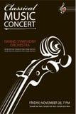 Klasyczny koncertowy plakat ilustracji