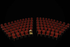 Klasyczny krzesła miejsca siedzące plan royalty ilustracja