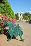 Klasyczny krzesło z Ganesh pomnikiem przy Sanam Chan Obraz Stock