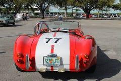 Klasyczny mały czerwony bieżny samochód Fotografia Stock