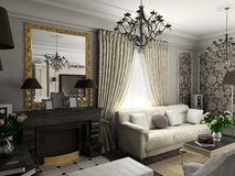 klasyczny meble salon. ilustracji