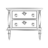 Klasyczny meble z królewskimi luksusowymi ornamentami Zdjęcia Stock