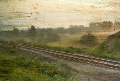 klasyczny mgła krajobrazu Obrazy Stock