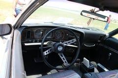 Klasyczny mięśnia samochodu wnętrze Fotografia Stock
