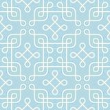 Klasyczny monochromatyczny geometryczny wzór Zdjęcia Stock