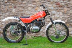 Klasyczny Moto Montesa motocykl na pokazie zdjęcia stock