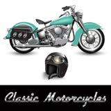 klasyczny motocykl ilustracja wektor