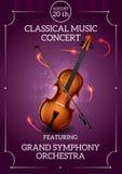 Klasyczny Muzyczny plakat ilustracja wektor