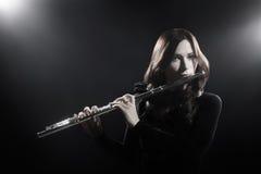 Klasyczny muzyk z fletowym instrumentem obraz royalty free