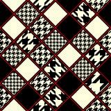 Klasyczny ornament houndstooths wzór Zdjęcie Royalty Free