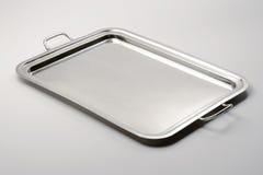 Klasyczny prostokątny taca metal Zdjęcia Royalty Free