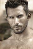 Klasyczny przystojny mężczyzna przystojny zakończenie Obraz Royalty Free