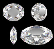 klasyczny rżnięty diament odizolowywał Zdjęcia Royalty Free