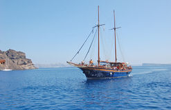 Klasyczny rejs w Grecja wyspie fotografia royalty free